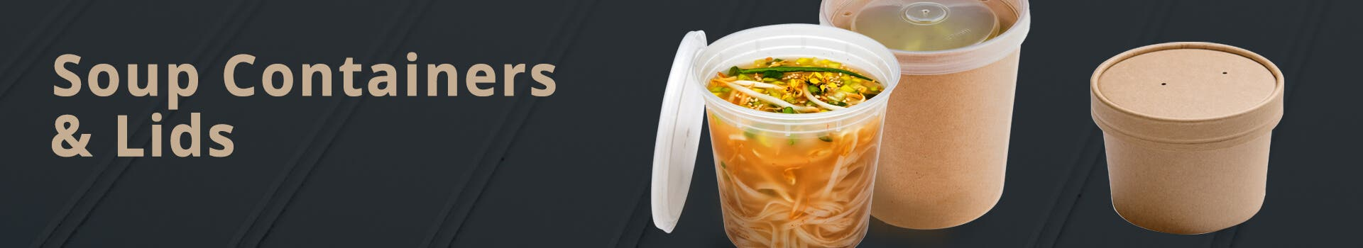 Small/Medium Soup Containers & Lids