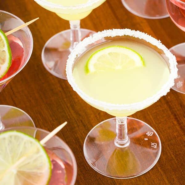 Disposable Margarita Glasses