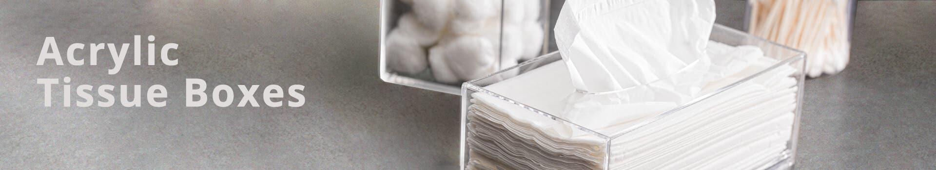 Plastic Acrylic Tissue Boxes