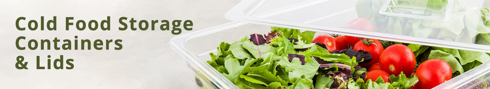Plastic Cold Food Storage Containers & Lids