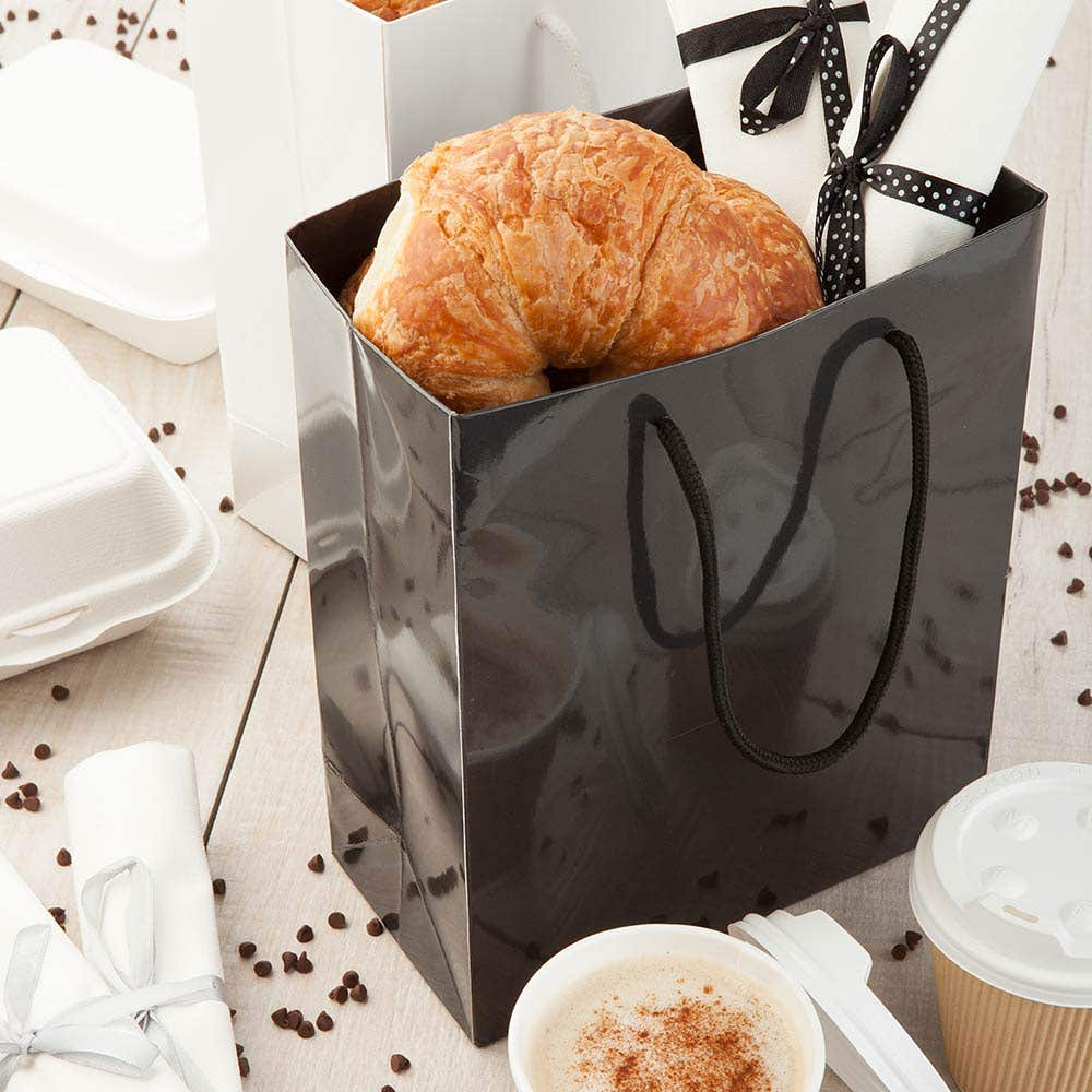 Glossy Paper Take Out Bags