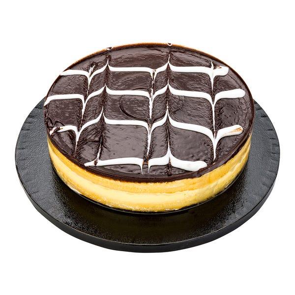 Pastry Tek Round Black Cardboard Cake Drum Board - Covered Edge - 10