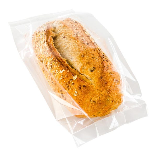 Bag Tek Clear Plastic Gusset Bag - High Clarity, Heat Sealable - 5