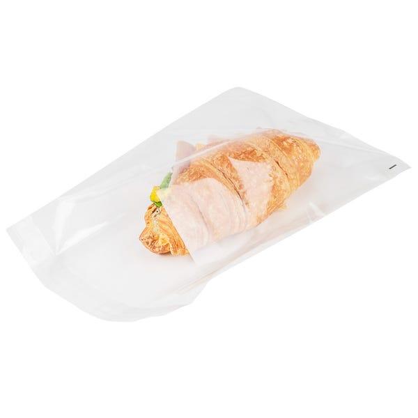 Bag Tek Clear Plastic Lip and Tape Bag - Self Sealing - 10