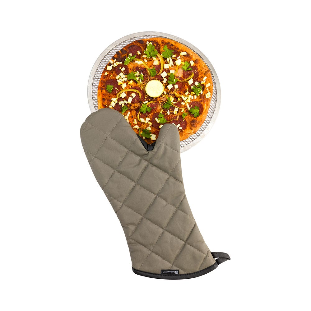 Charcoal Color Fire Retardant Fabric Oven Mitt 17 inch Length