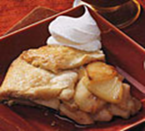 Apple and pear crostata