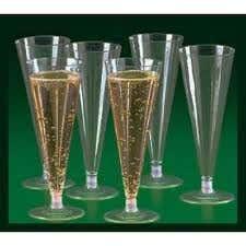 plastic flute champagne glasses