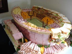 stadium made of food