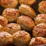 Delicious Mardi Gras Alligator Meatballs.