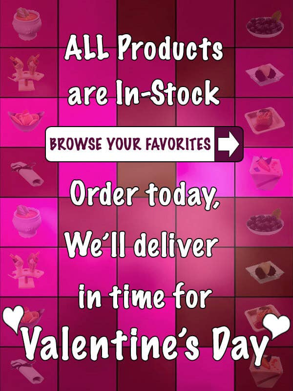 full stock of products for valentine's day