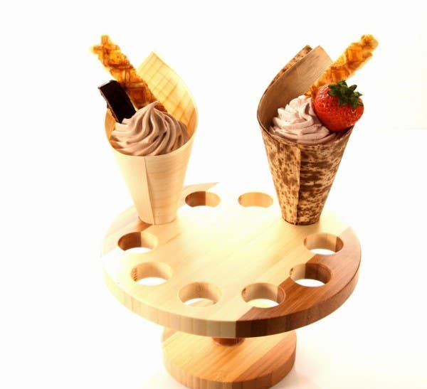 full moon bamboo cone stand