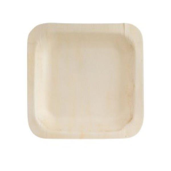 5.5 square wood plates