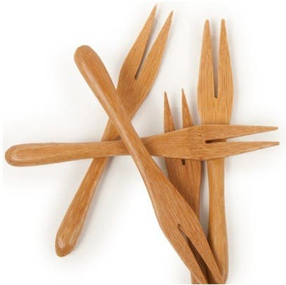 mini bamboo forks