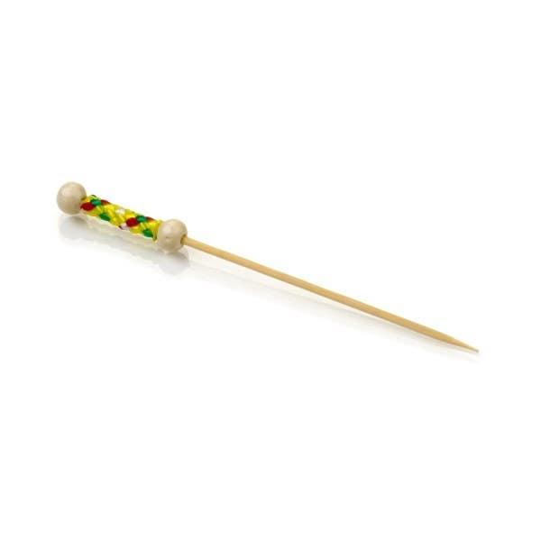 yellow braided bamboo picks