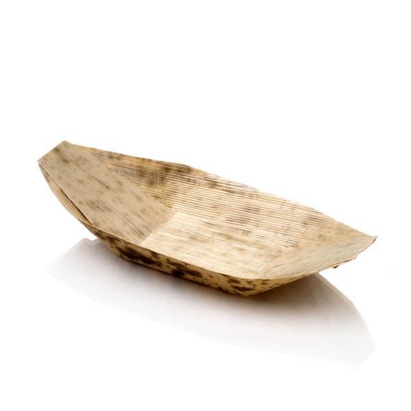 small bamboo boats