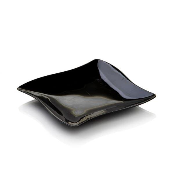 black aqua plates