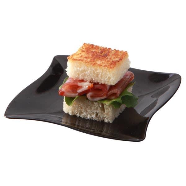 black aqua plate medium