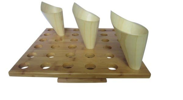 bamboo cone stand