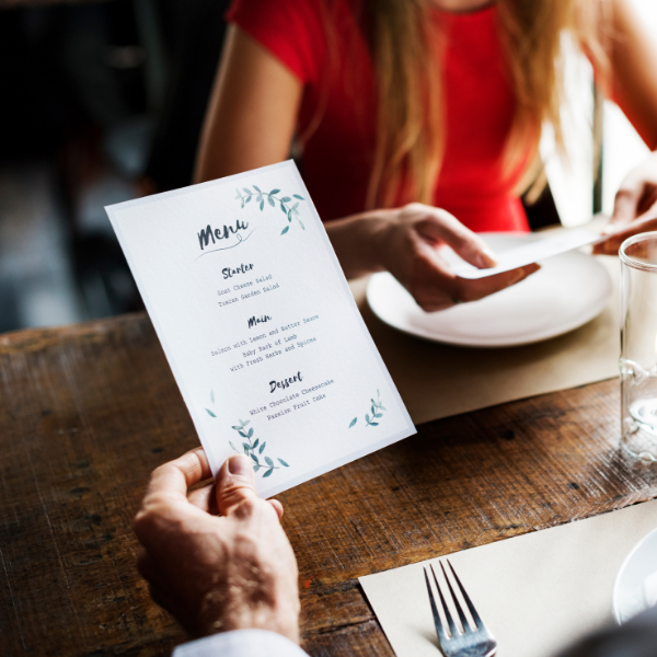 How To Create A Catering Menu