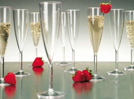 disposable plastic champagne glass