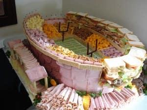 stadium made of food